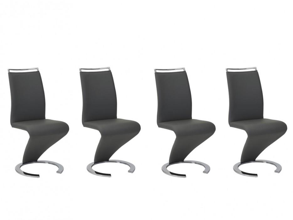 stuhl freischwinger 4er set twizy schwarz kaufen bei kauf. Black Bedroom Furniture Sets. Home Design Ideas