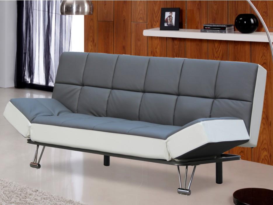 schlafsofa espo ausklappbar grau wei kaufen bei. Black Bedroom Furniture Sets. Home Design Ideas