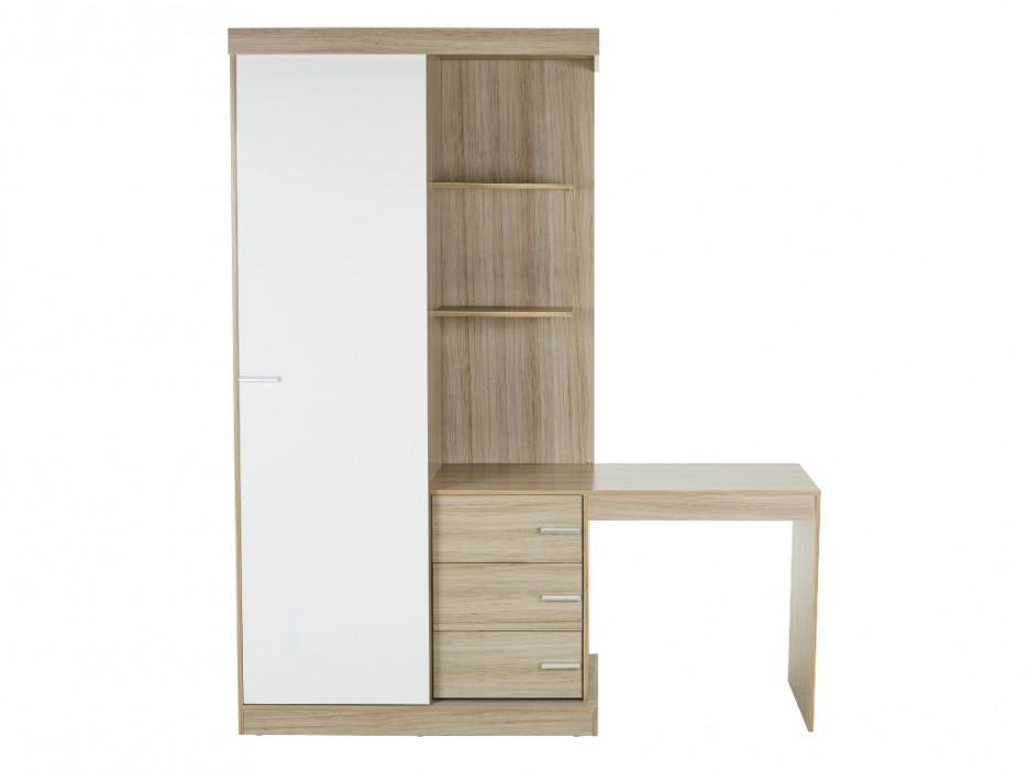 kleiderschrank mit integriertem schreibtisch fika. Black Bedroom Furniture Sets. Home Design Ideas