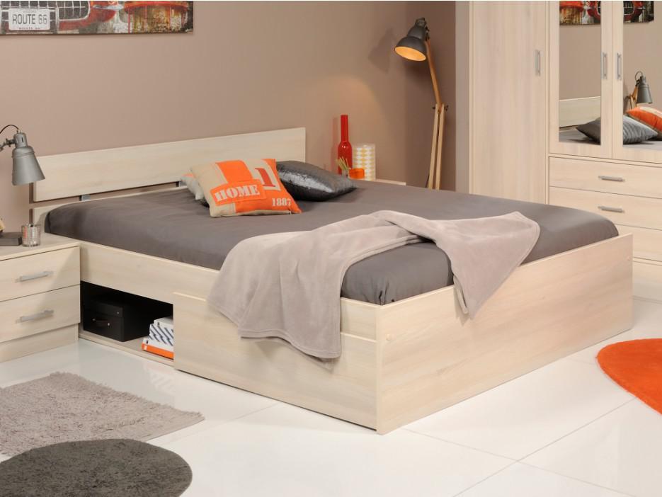 parisot bett mit stauraum infinity bruno 160 x 200 cm holzfarben kaufen bei kauf. Black Bedroom Furniture Sets. Home Design Ideas