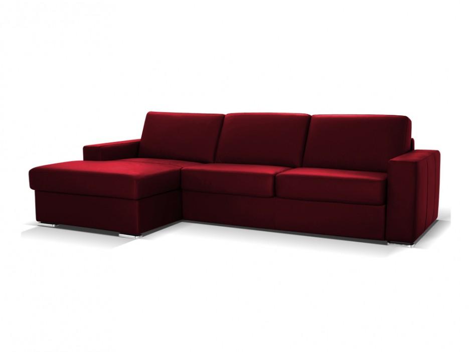 ledersofa ecksofa schlafsofa mit matratze bettkasten delectea standardleder rot sofaecke. Black Bedroom Furniture Sets. Home Design Ideas
