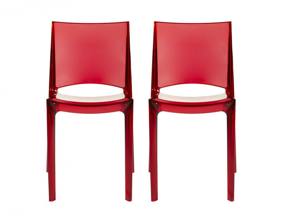 Stuhl 2er set helly rot kaufen bei kauf for Stuhl abc design