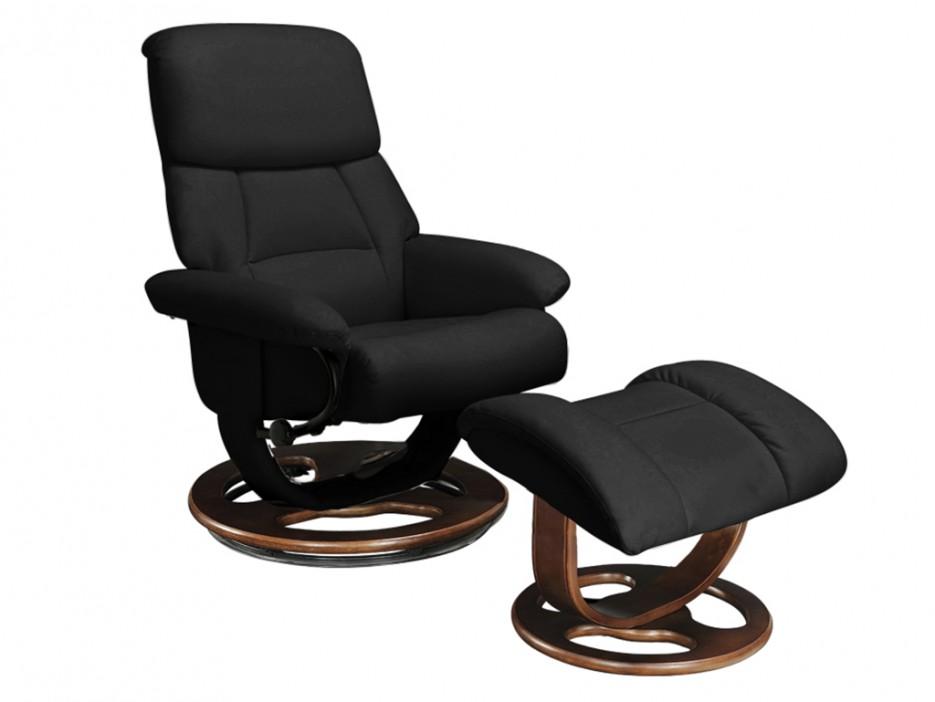 relaxsessel fernsehsessel leder myosotis fu hocker. Black Bedroom Furniture Sets. Home Design Ideas
