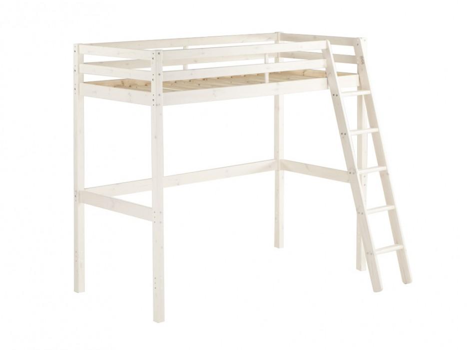 hochbett massivholz gedeon lattenrost 90x190cm. Black Bedroom Furniture Sets. Home Design Ideas