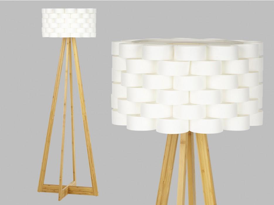 Stehlampe Holz Tressa - Höhe: 150cm - Kaufen bei Kauf-Unique.de