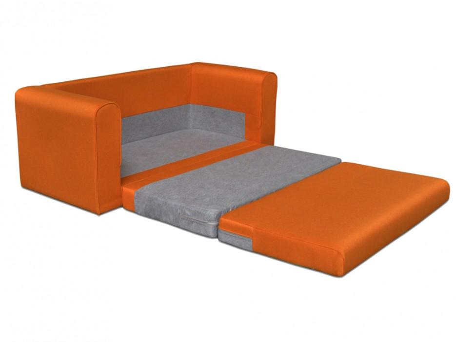 Schlafsofa stoff donau ii orange kaufen bei kauf for Schlafsofa orange