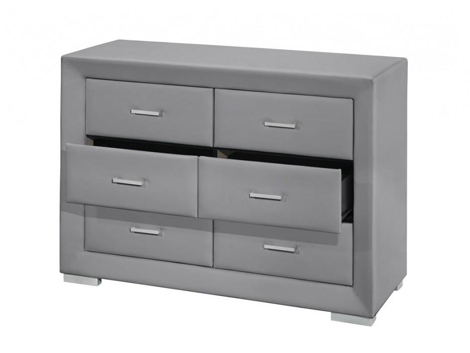 kommode capitole 6 schubladen grau kaufen bei kauf. Black Bedroom Furniture Sets. Home Design Ideas