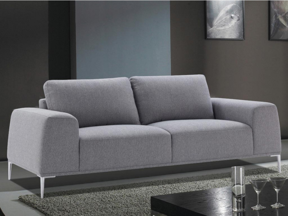 3 Sitzer Sofa Stoff Tidiane Grau Kaufen Bei Kauf Uniquede