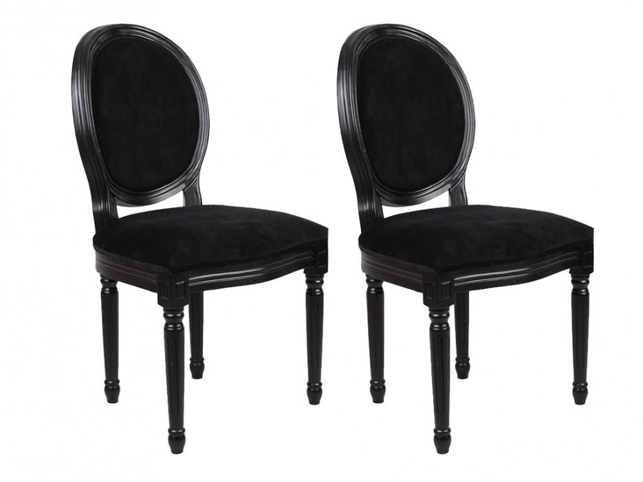 stuhl 2er set samt louis xvi schwarz kaufen bei kauf. Black Bedroom Furniture Sets. Home Design Ideas