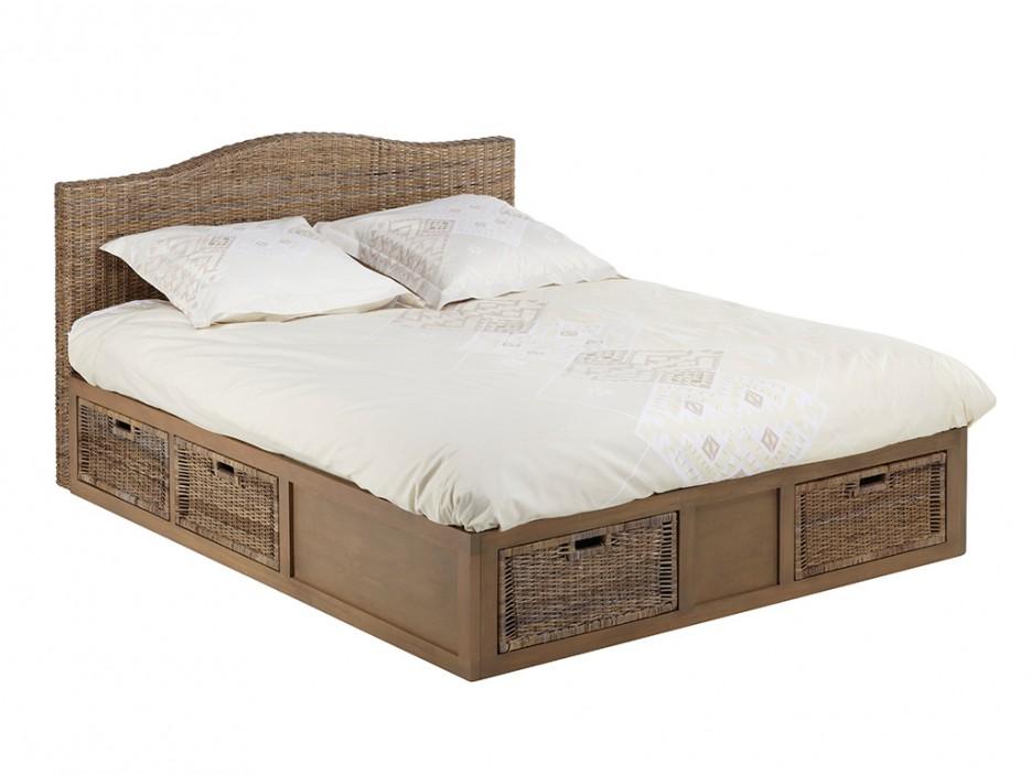 rattanbett mit stauraum bayani 160x200 cm kaufen bei. Black Bedroom Furniture Sets. Home Design Ideas