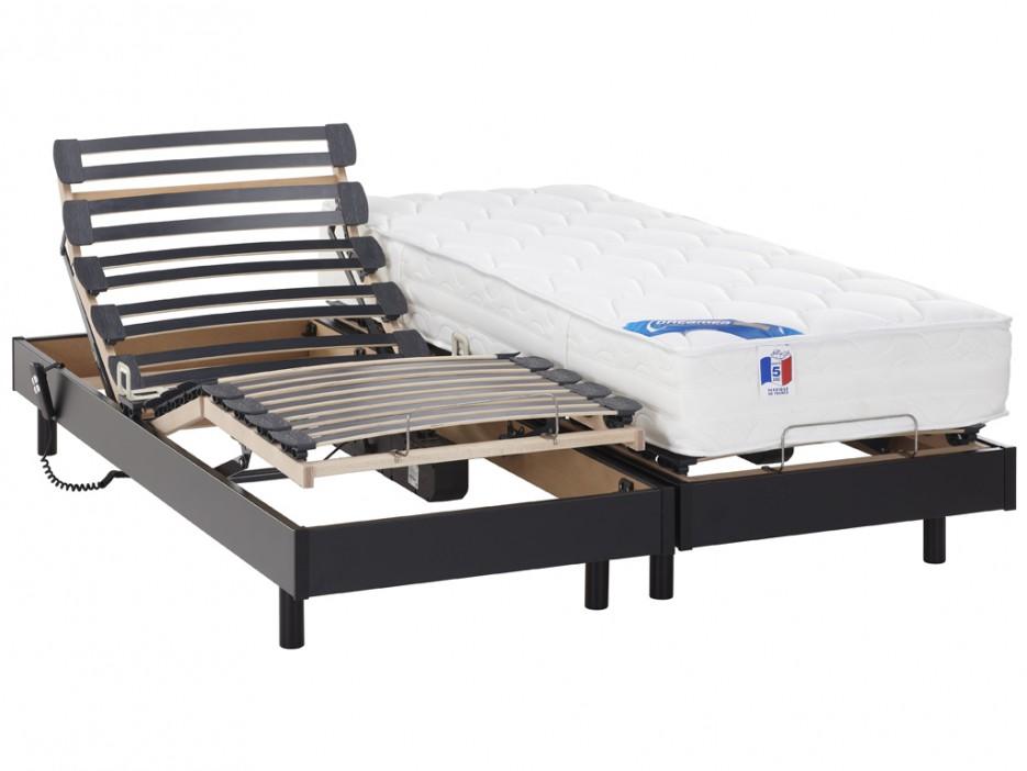 matratzen elektrischer lattenrost 2er set mit motor apollo 2x 80x200cm schwarz kaufen bei. Black Bedroom Furniture Sets. Home Design Ideas