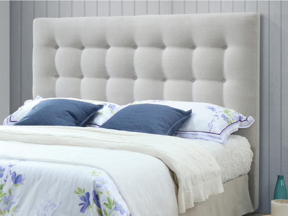 Kopfteil Bett gepolstert Stoff FRANCESCO -140 cm - Beige - Kaufen ...