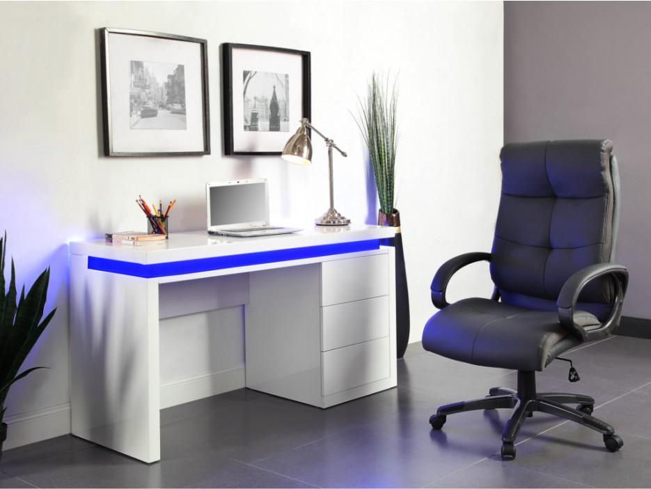 Schreibtisch Hochglanz Led Emerson Kaufen Bei Kauf Uniquede