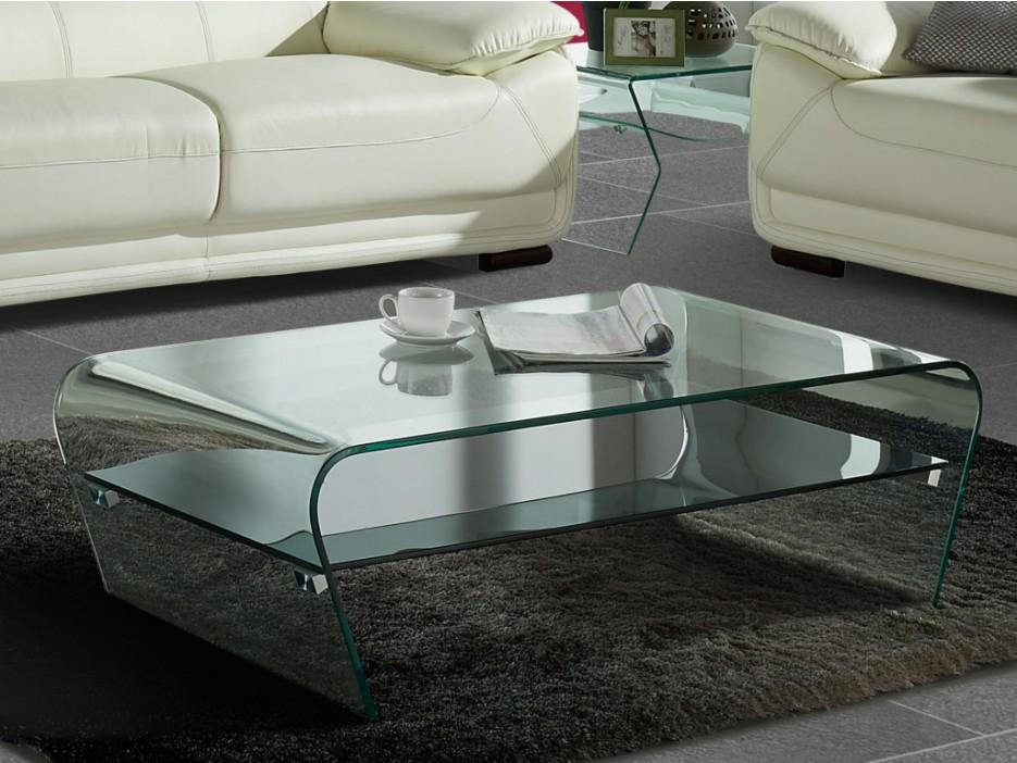 Couchtisch Glas Design Kelly - Transparent & Schwarz - Kaufen bei ...