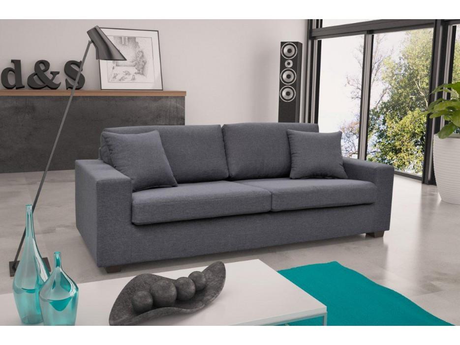 3 sitzer sofa stoff yudo grau kaufen bei kauf. Black Bedroom Furniture Sets. Home Design Ideas