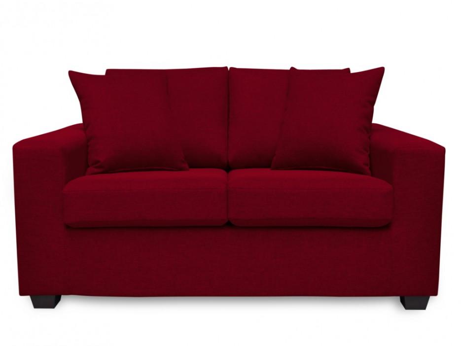 2 sitzer sofa stoff yudo rot kaufen bei kauf. Black Bedroom Furniture Sets. Home Design Ideas
