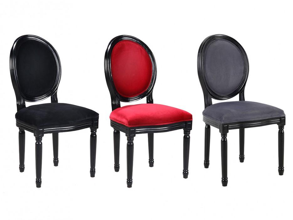 stuhl 4er set samt louis xvi schwarz kaufen bei kauf. Black Bedroom Furniture Sets. Home Design Ideas