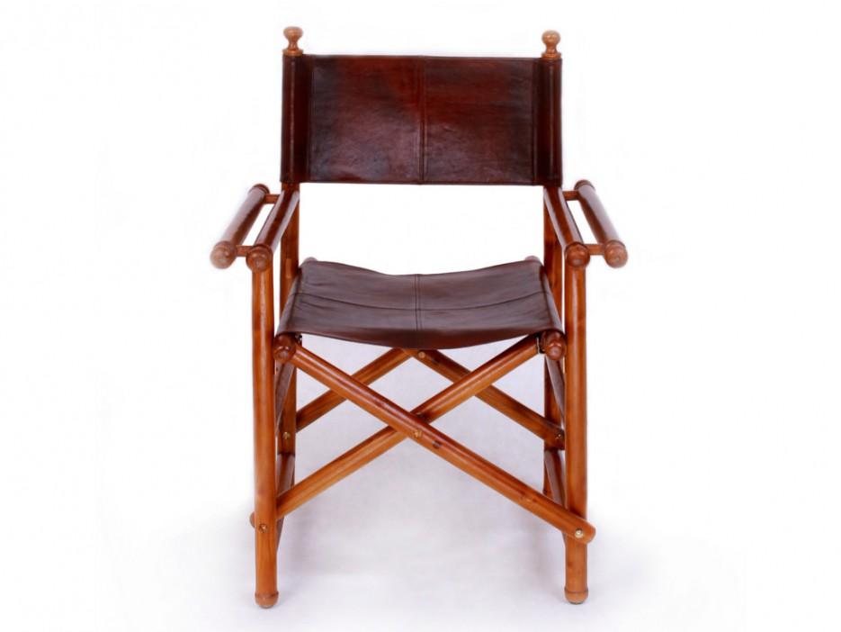 Sessel Holz Leder Garten Leder Balkon Sessel Fur