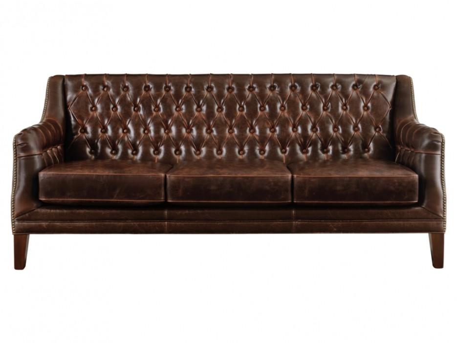 Chesterfield Ledersofa 3 Sitzer Vintage Look Colbert Kaufen Bei