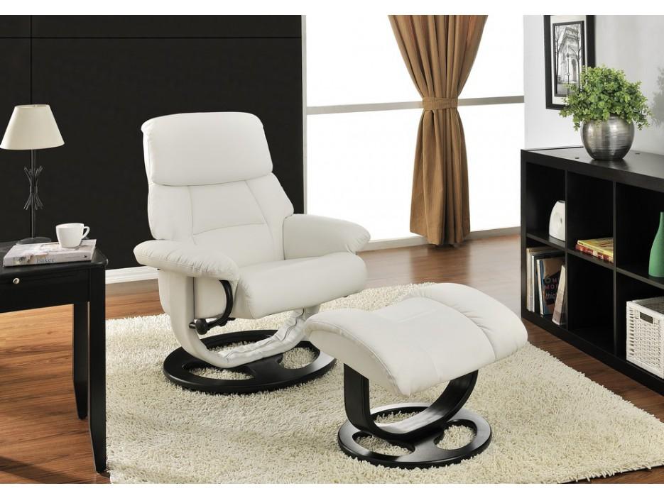 relaxsessel fernsehsessel leder myosotis fu hocker wei kaufen bei kauf. Black Bedroom Furniture Sets. Home Design Ideas