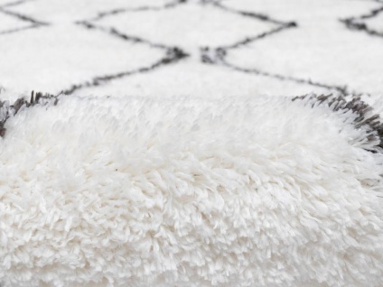 Teppich rund Berber-Stil MINEA - Polyester - D. 160 cm - Beige & Grau - Vorschau 3