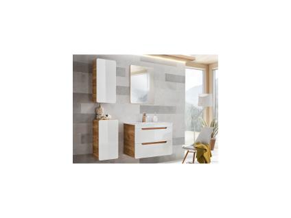 Komplettbad mit Einzelwaschbecken ARUBA - Weiß - Breite: 80 cm - Vorschau 1