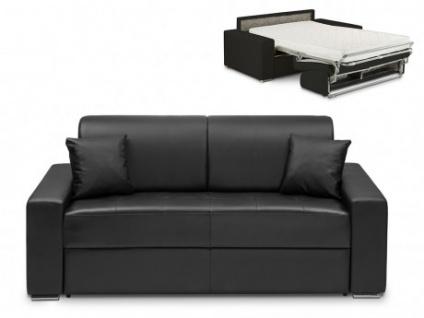 Schlafsofa 3-Sitzer EMIR - Schwarz - Liegefläche: 140cm - Matratzenhöhe: 22cm