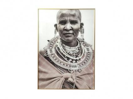 Kunstdruck gerahmt ANNA - 80 x 120 x 2, 5 cm - Grau