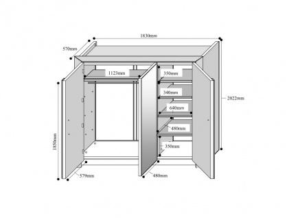 Kleiderschrank Britany - 3 Türen