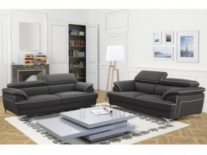Couchgarnitur 3+2 Voltaire - Grau