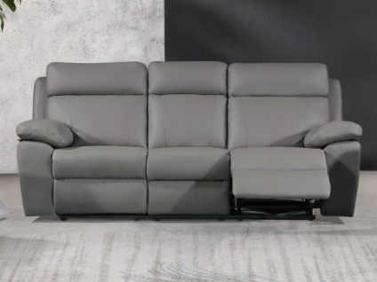 Relaxsofa 3-Sitzer WIGAN - Grau