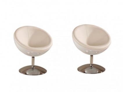 Lounge-Sessel 2er-Set Universe Weiß
