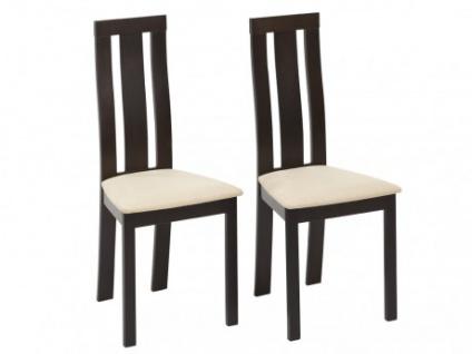Stuhl 2er-Set Holz massiv Domingo - Wenge