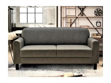 Clubsofa 3-Sitzer MARK - Kunstleder - Vintage Leder Optik - Grau