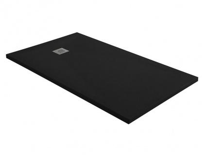 Duschwanne mit Siphon MIRNOS - 1400x800x35 mm - Schwarz