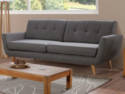 3-Sitzer Sofa Stoff Keiko - Grau