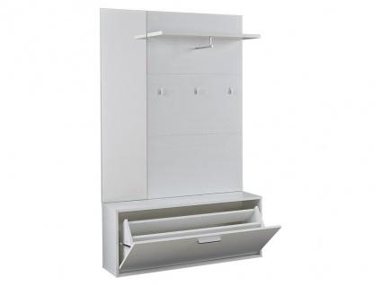 Garderobe CALEB - 1 Tür & 1 Ablage - Kiefernholzfarben - Vorschau 4