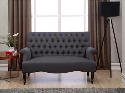 2-Sitzer-Sofa Stoff Barock Manifia - Anthrazit - Vorschau 3