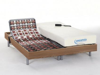 Matratzen elektrischer Lattenrost 2er-Set mit Okin-Motor Hesiode III - Eichenholz - 2x80x200