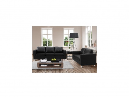Couchgarnitur 3+2 Ackley - Schwarz