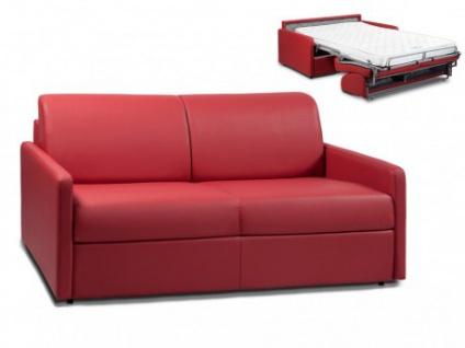 Schlafsofa 3-Sitzer CALIFE - Rot - Liegefläche: 140 cm - Matratzenhöhe: 14cm
