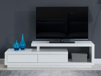 TV-Möbel Hochglanz Artaban - Weiß