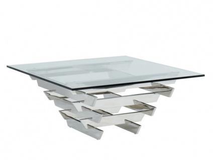 Couchtisch Design Glas & Metall CASTELLANA - Vorschau 3