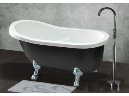 Freistehende Badewanne Egee II - 171 L - Schwarz/Silber - Vorschau 1