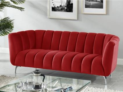 3-Sitzer-Sofa Samt PEGOUM - Rot