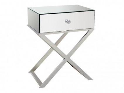 Nachttisch Design mit gekreuzten Beinen GLACIA - 1 Schublade