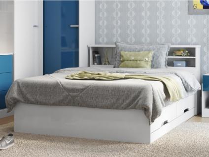 Bett mit Lattenrost & Bettkasten Boris - 140x190cm - Vorschau 1