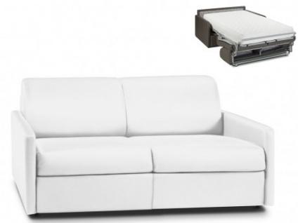 Schlafsofa 3-Sitzer CALIFE - Weiß - Liegefläche: 140 cm - Matratzenhöhe: 22cm