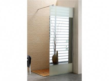 Duschtrennwand Seitenwand Spiegel für bodengleiche italienische Dusche Carla - 90x200 cm - Vorschau 3