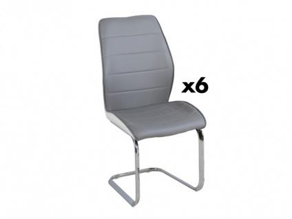 Stuhl 6er-Set TYLIO - Grau